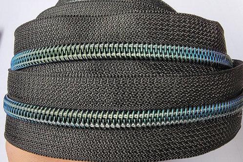 Blue/Green Shift #5 Nylon Zipper