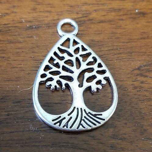 Tree Drop Charm Pendant