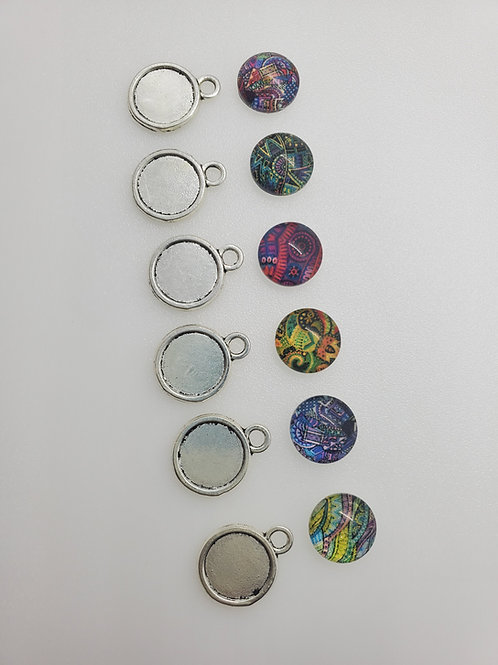 Bezel Cabochon Charms Charms (5)