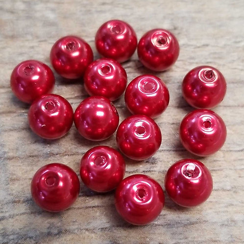Cranberry Glass Beads