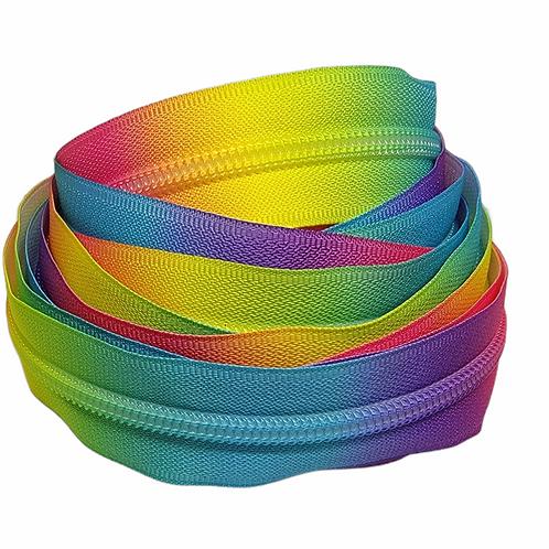 Colorful Rainbow Nylon Zipper Tape (5 yards)