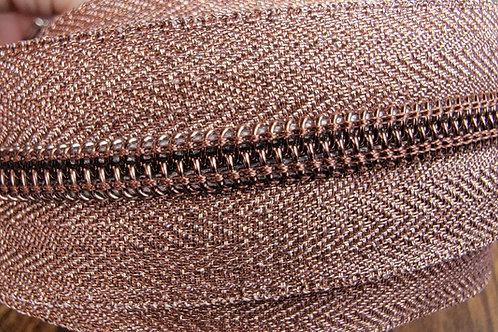 Metallic Copper #3 Nylon Zipper Tape
