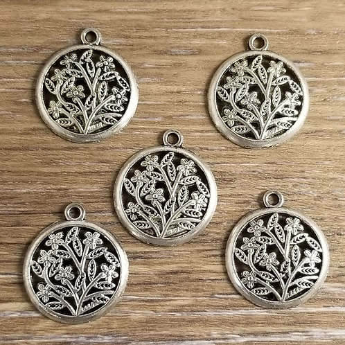 Flower Tree Charms (5)