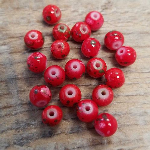 Candy Apple Glass Beads