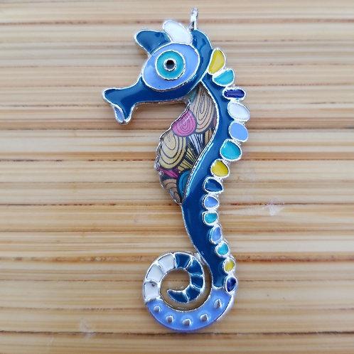 Seahorse Enamel Charm