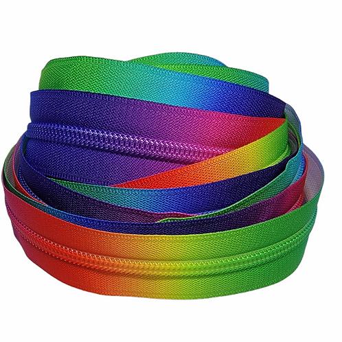 Primary Rainbow Nylon Zipper Tape (5 yards)