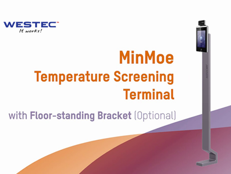 Temperature Screening Terminal with Floor-standing Bracket