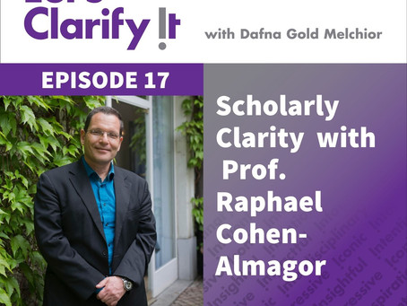 Scholarly Clarity with Prof. Raphael Cohen-Almagor