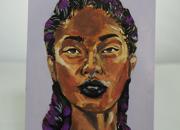 Melanie Fyfe-Baarda : Purple Braids