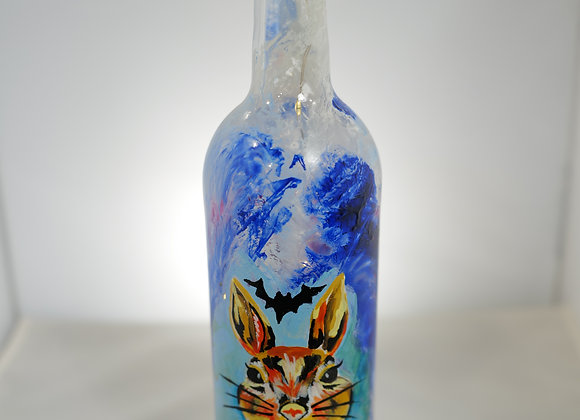 Kim Knight: Painted Wine Bottles