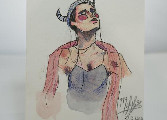 Melanie Fyfe-Baarda : Horned Goddess