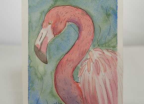 Melanie Fyfe-Baarda : Pink Flamingo