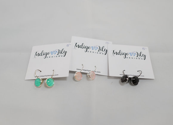 Indigo Lily: Large Dangly Earrings