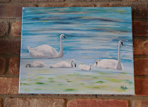 Kathy Fyfe Artwork : Swan Family