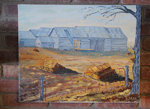 Pompa's Paintings : Barn and Bales