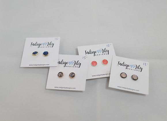 Indigo Lily: Small Stud Earrings