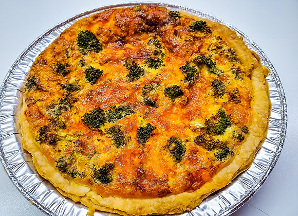 The Midnight Baker: Broccoli and Cheese quiche
