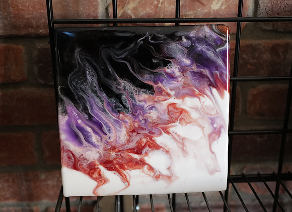 Kathy Fyfe Artwork: White/Purple/Copper