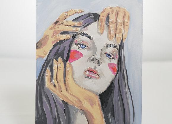 Melanie Fyfe-Baarda : Hands on Face