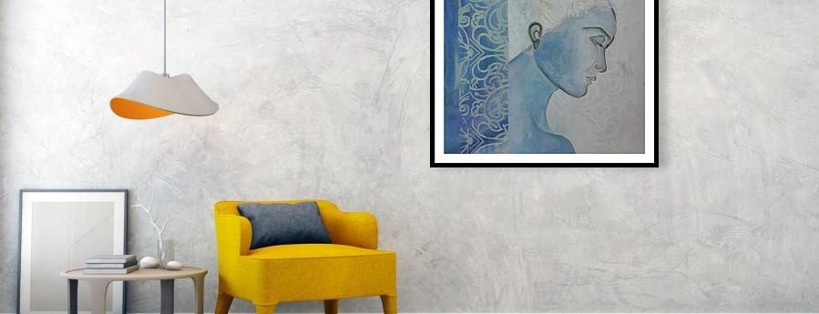 Selene, framed print