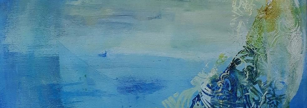 Blue Moon original canvas