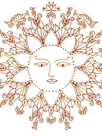 personified sun mandala