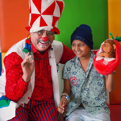 The Happy Clown In The Cancer Ward