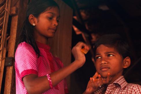 Keerthana(12)-Ajay(8)(children of Kamala