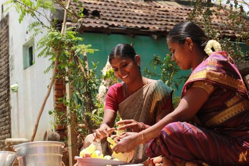 Amuthavalli, Revathi(Banana flower pickl
