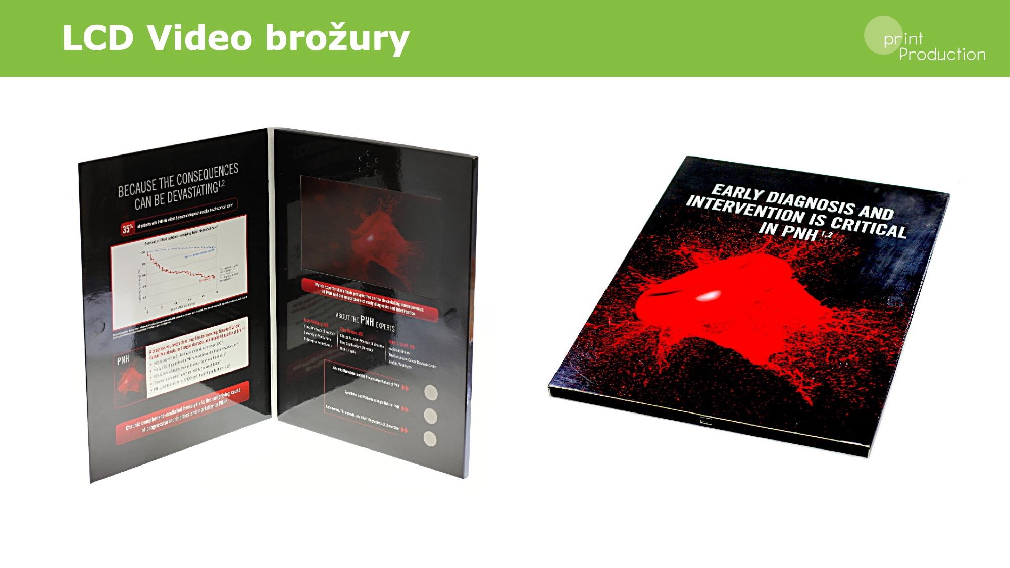 LCD video brožury