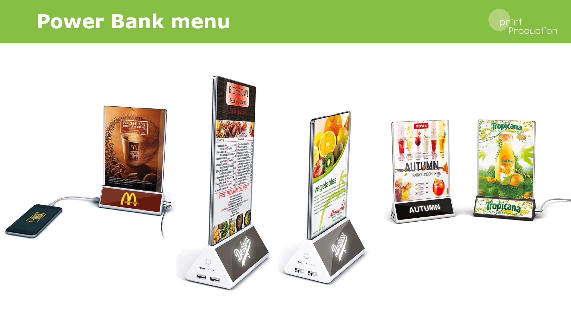 Power banka menu