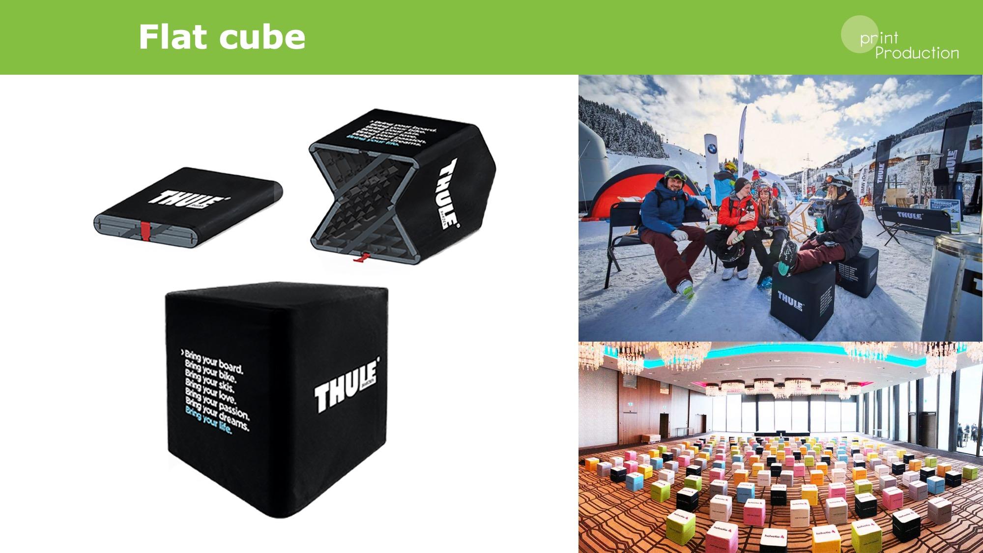 flat cube sedák