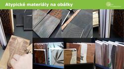 Atypické materiály na obálky diářů a notesů
