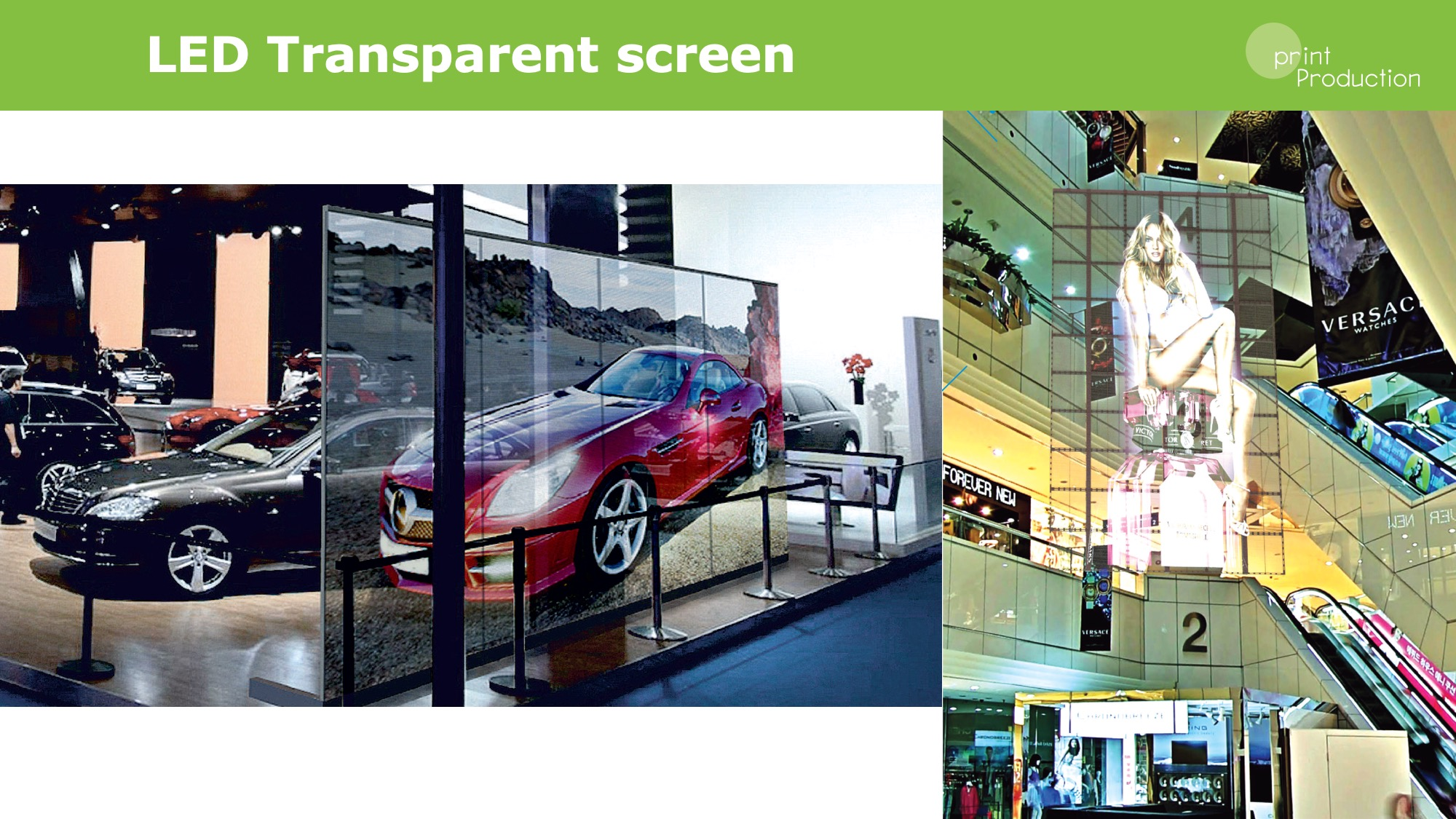 Led transparent screen