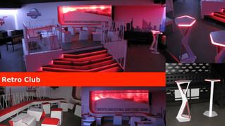 Retro Club Praha - vybavení interiéru na míru