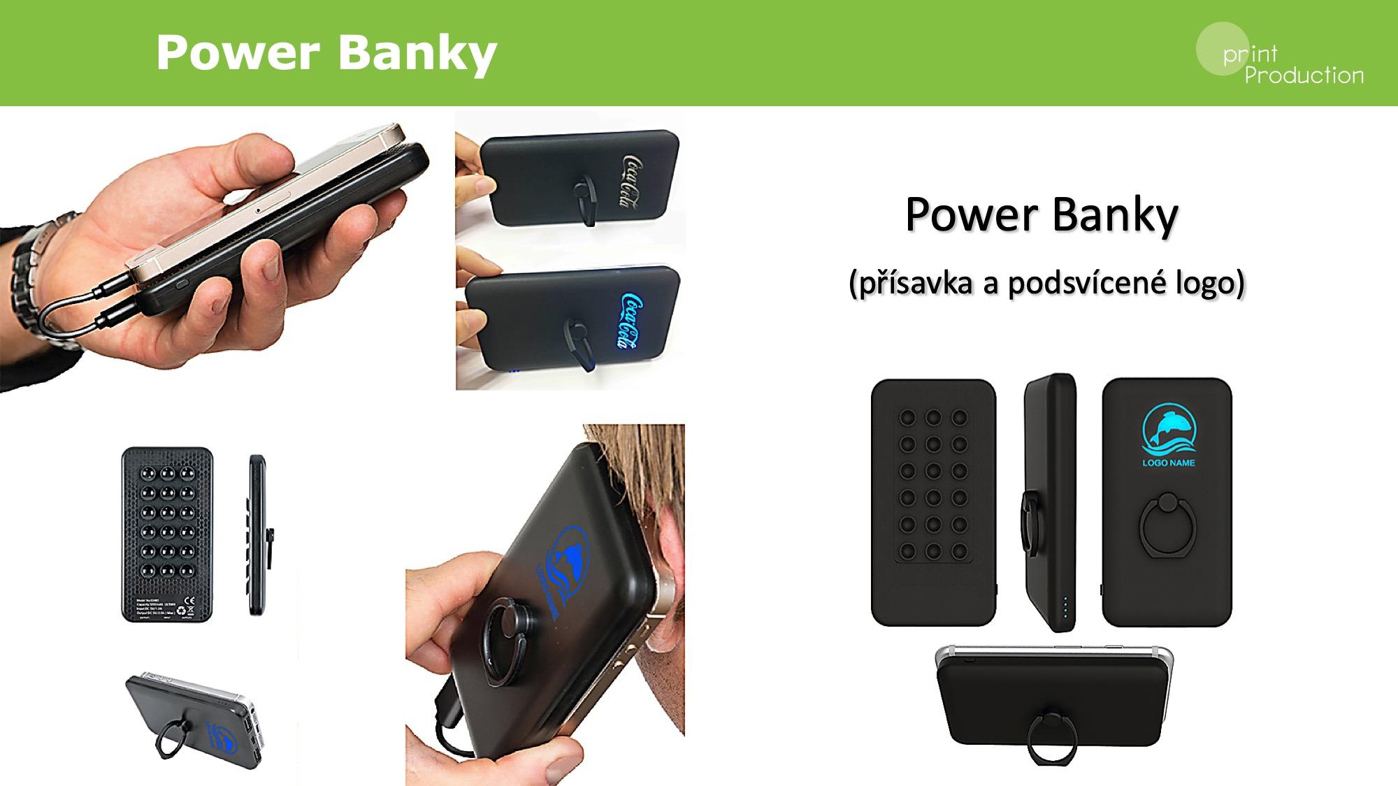Power banky s podsvícením
