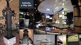 Dekorace Infinity a Sky bar