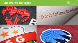 3D etikety na textil