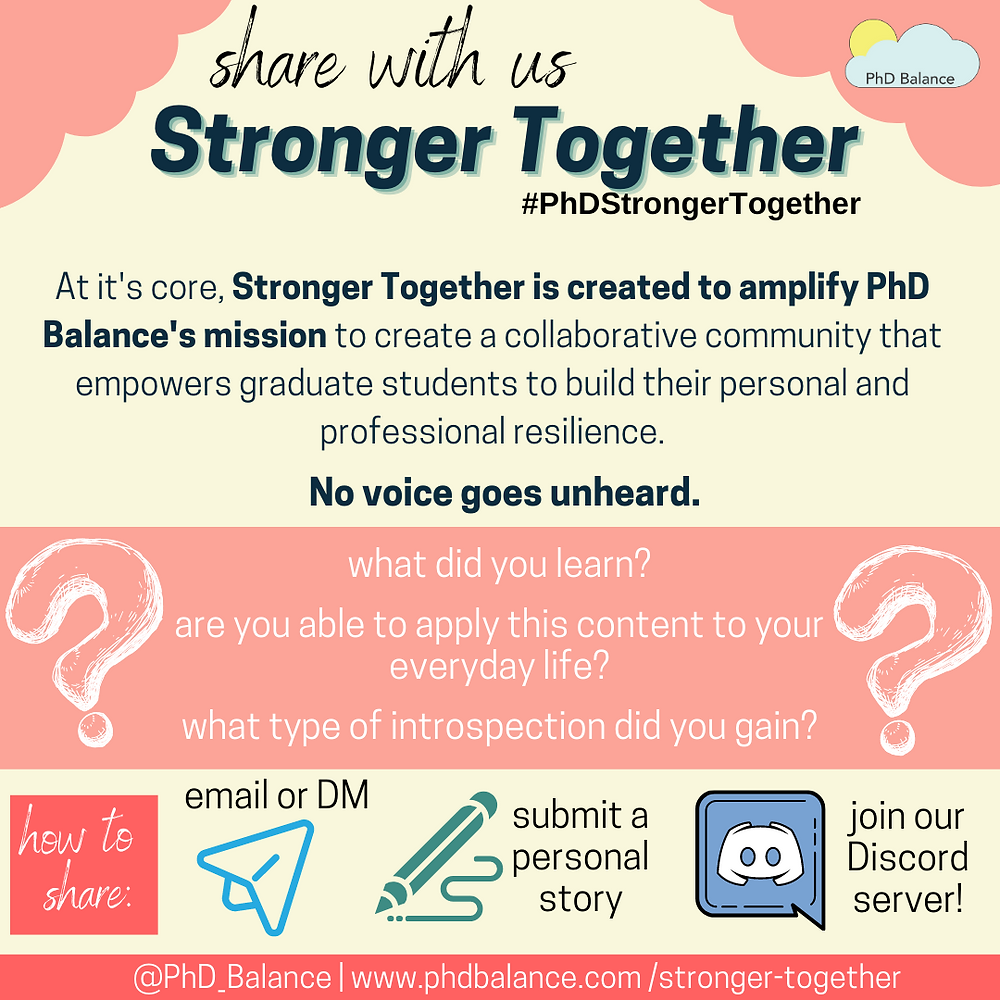 Share with us Stronger Together graphic - all text in post