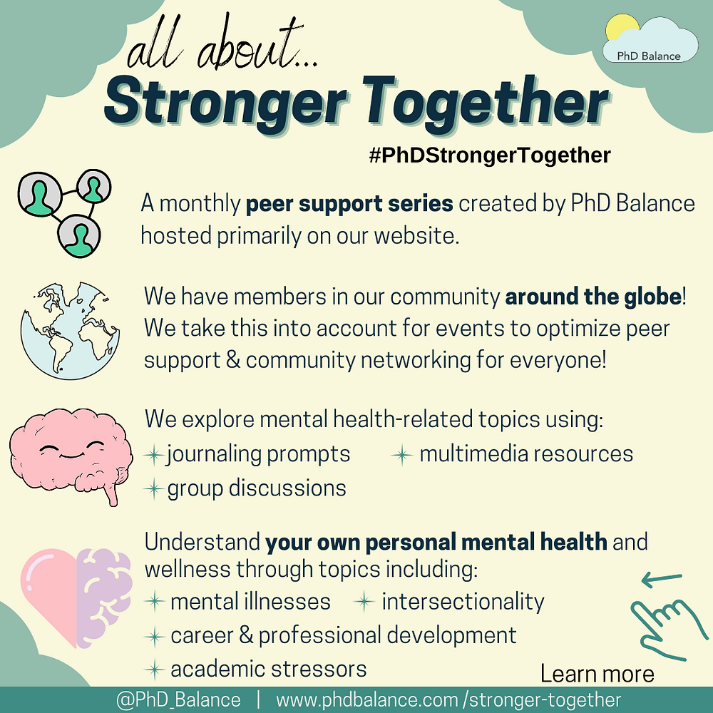 All about stronger together graphic - all text in post.