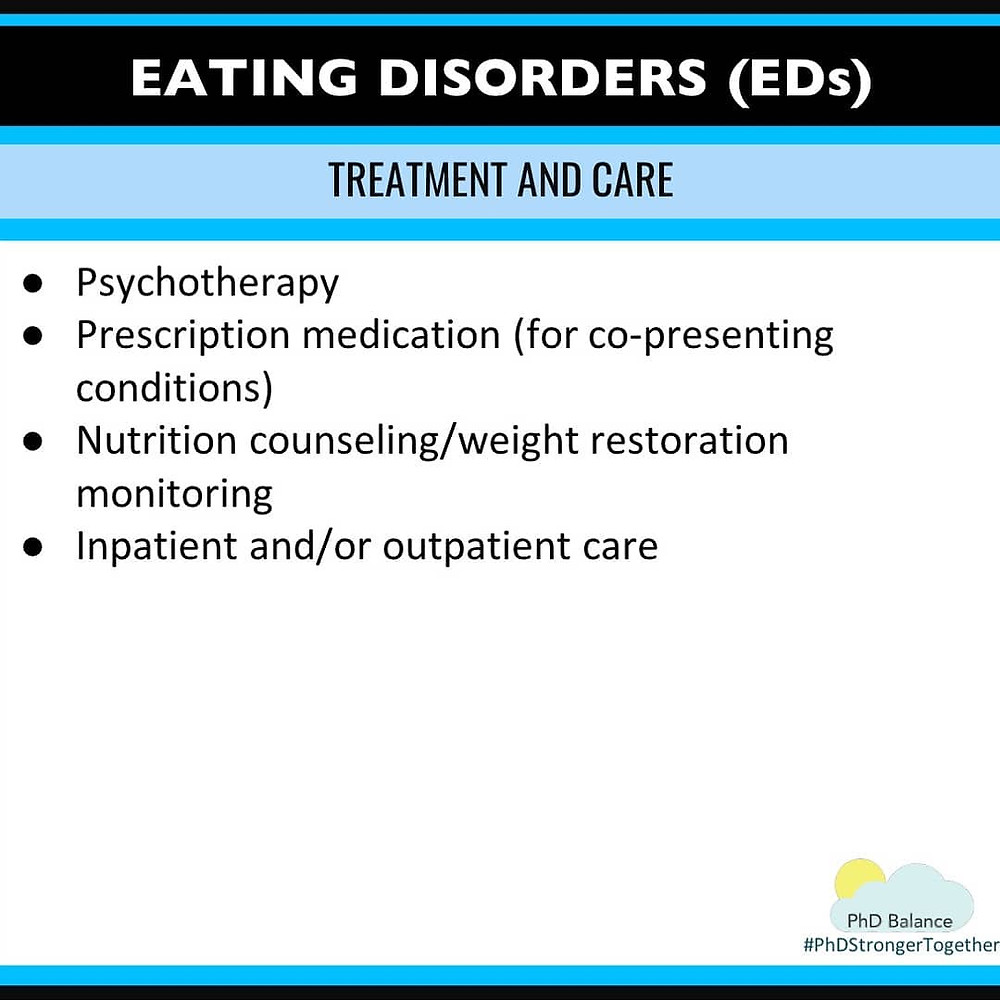 Infographic - eating disorders, treatment and care. All text in post.