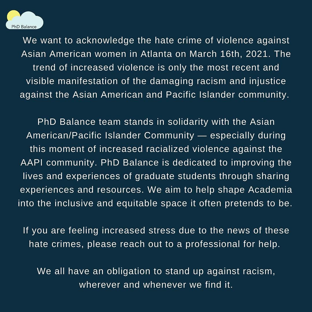 Graphic of the statement on a navy background - all text in post.