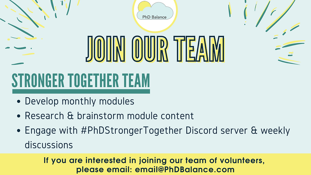 Join our team graphic - all information in post!