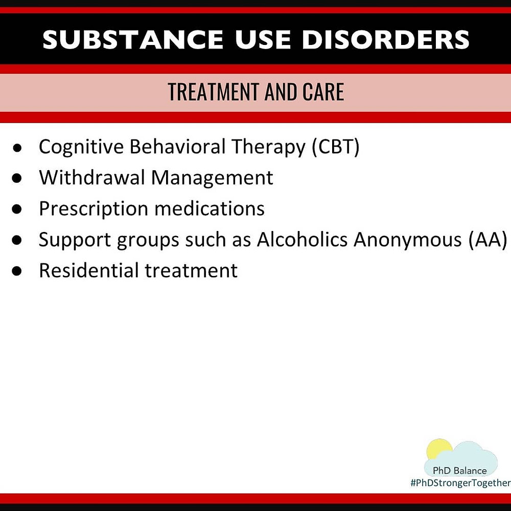 Infographic - Substance Use Disorders Treatment and Care. All text in post.