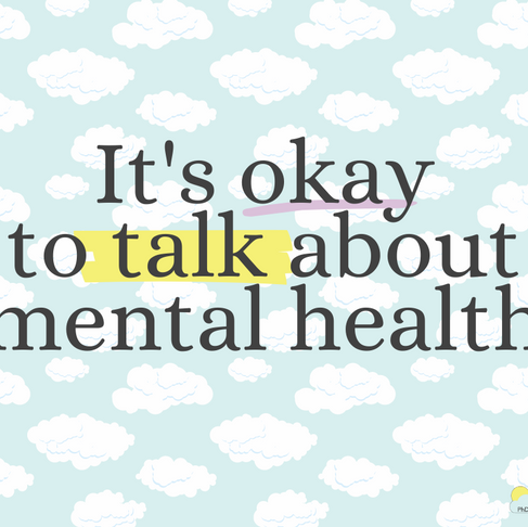 It's okay to talk about mental health.