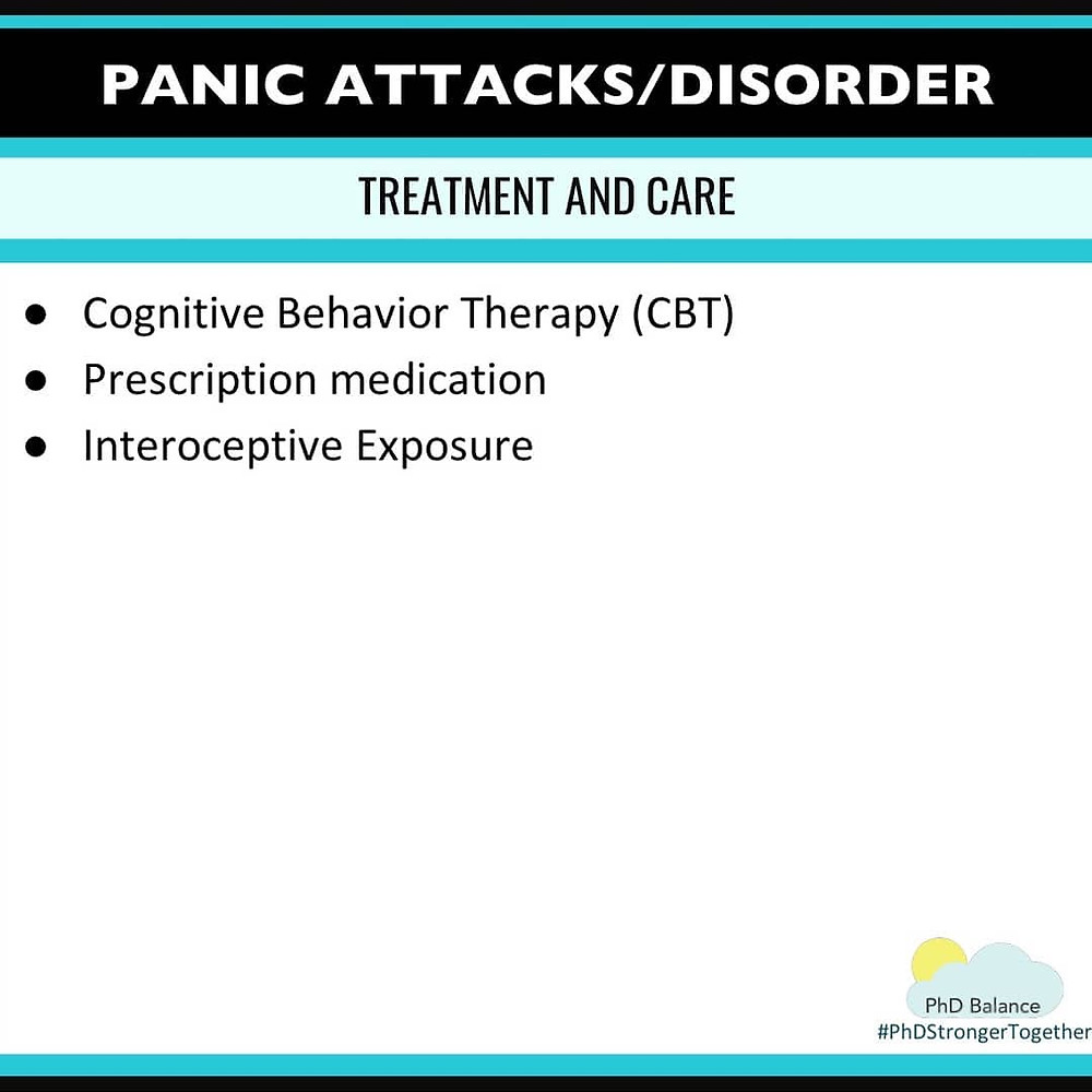 Panic Attacks/Disorder Treatment and Care. All text in post.