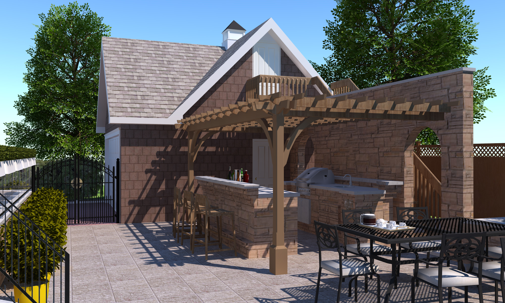 Outdoor Bar & Pergola