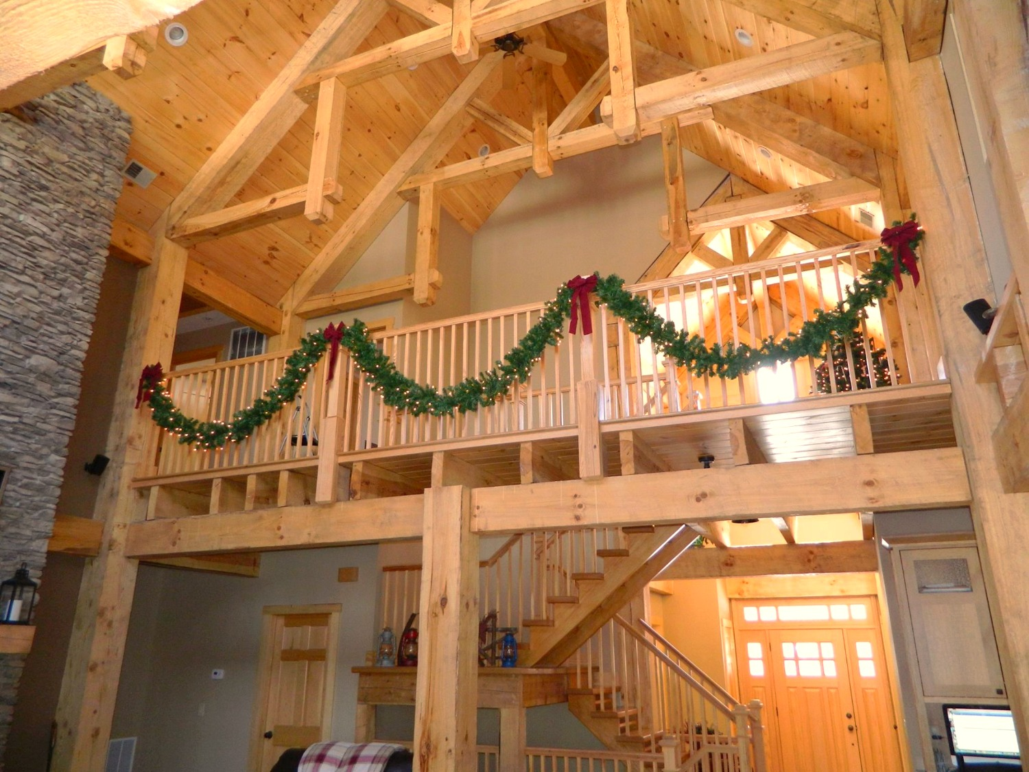 Timber-Frame Interior