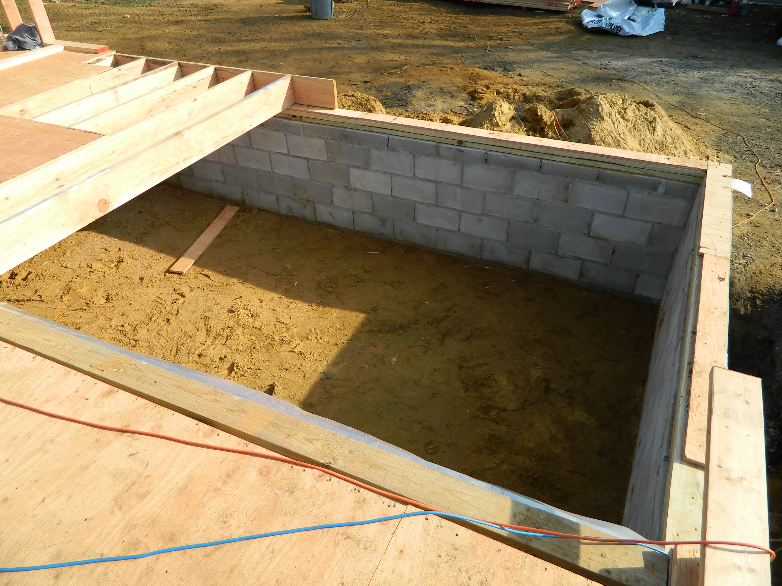New foundation and floor framing