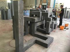 Mindset sculpture in workshop